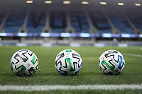 SAN JOSE, CA - OCTOBER 28: MLS Soccer balls before a game between Real Salt Lake and San Jose Earthquakes at Earthquakes Stadium on October 28, 2020 in San Jose, California.