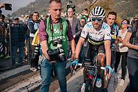 World Champion Alejandro Valverde (ESP/Movistar) post-finish<br /> <br /> 112th Il Lombardia 2018 (ITA)<br /> from Bergamo to Como: 241km