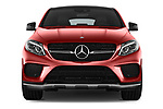 Car photography straight front view of a 2017 Mercedes Benz GLE-Coupe AMG-43 2 Door SUV Front View