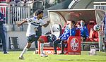 Gouaida im Spiel gegen Kaiserslautern beim Spiel in der 3. Liga, 1. FC Kaiserslautern - SV Waldhof Mannheim.<br /> <br /> Foto © PIX-Sportfotos *** Foto ist honorarpflichtig! *** Auf Anfrage in hoeherer Qualitaet/Aufloesung. Belegexemplar erbeten. Veroeffentlichung ausschliesslich fuer journalistisch-publizistische Zwecke. For editorial use only. DFL regulations prohibit any use of photographs as image sequences and/or quasi-video.