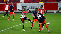 Marcus Forss of Brentford takes a shot at the Luton Town goal during Brentford vs Luton Town, Sky Bet EFL Championship Football at the Brentford Community Stadium on 20th January 2021