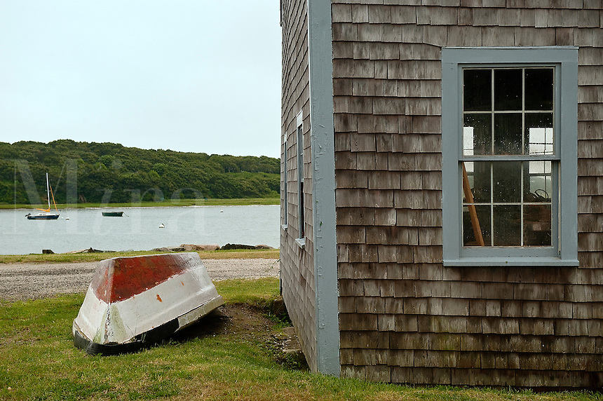 Rwoboat and boathouse detail, Chatham, Cape Cod, MA, USA