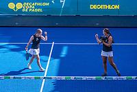 Utrecht, The Netherlands,  September 5, 2021,  Jaarbeurs, Decathlon Copa de Padel,  Milou Ettekove and Tess van Dinteren (NED)  <br /> Photo: Tennisimages/Henk Koster