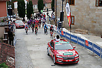 The start of Stage 15 of the Vuelta Espana 2020, running 230.8km from Mos to Puebla de Sanabria, Spain. 5th November 2020. <br /> Picture: Luis Angel Gomez/PhotoSportGomez | Cyclefile<br /> <br /> All photos usage must carry mandatory copyright credit (© Cyclefile | Luis Angel Gomez/PhotoSportGomez)