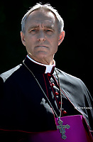 Monsignor Georg Gaenswein.Pope Francis attends the celebration of the Season of Creation with the planting of a tree and a dedication of the Synod for the Amazon to St. Francis, on the occasion of the feast of St. Francis of Assisi. in the Vatican gardens.Vatican City, October 4th, 2019.
