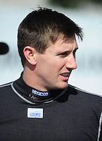 Jan 24, 2009; Chandler, AZ, USA; NHRA top fuel driver Morgan Lucas during testing at the National Time Trials at Firebird International Raceway. Mandatory Credit: Mark J. Rebilas-