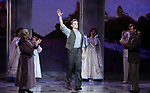 """Judy Kaye and Max von Essen with Cody Simpson making his Broadway Debut Bows in """"Anastasia"""" at the Broadhurst Theatre on November 29, 2018 in New York City."""