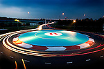UFO landing space is an artwork by a Dutch Artist constructed in the town of Houten, near Utrecht