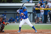 Jose Martinez (2) of the Burlington Royals at bat against the Greeneville Astros at Burlington Athletic Park on August 29, 2015 in Burlington, North Carolina.  The Royals defeated the Astros 3-1. (Brian Westerholt/Four Seam Images)
