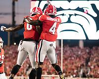 Athens, GA - September 16, 2017: The thirteenth ranked University of Georgia Bulldogs host the Samford Bulldogs at Sanford Stadium.