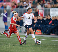 Kelly Parker, Abby Wambach. The US Women's National Team defeated the Canadian Women's National Team, 4-0, at BMO Field in Toronto during an international friendly soccer match on May 25, 2009.