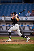 Charlotte Knights Adam Engel (11) at bat during an International League game against the Syracuse Mets on June 11, 2019 at NBT Bank Stadium in Syracuse, New York.  Syracuse defeated Charlotte 15-8.  (Mike Janes/Four Seam Images)