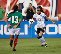 Erika Tymrak, Arianne Romero. The USWNT defeated Mexico, 7-0, during an international friendly at RFK Stadium in Washington, DC.  The USWNT defeated Mexico, 7-0.