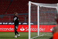 13th November 2020; National Stadium of Santiago, Santiago, Chile; World Cup 2020 Football qualification, Chile versus Peru;  Pedro Gallese of Peru dejected at the goal scored by Arturo Vidal of Chile (out of picture) in the 20th minute 1-0