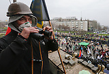 Prorussische Kräfte in der Regionalverwaltung in Donezk