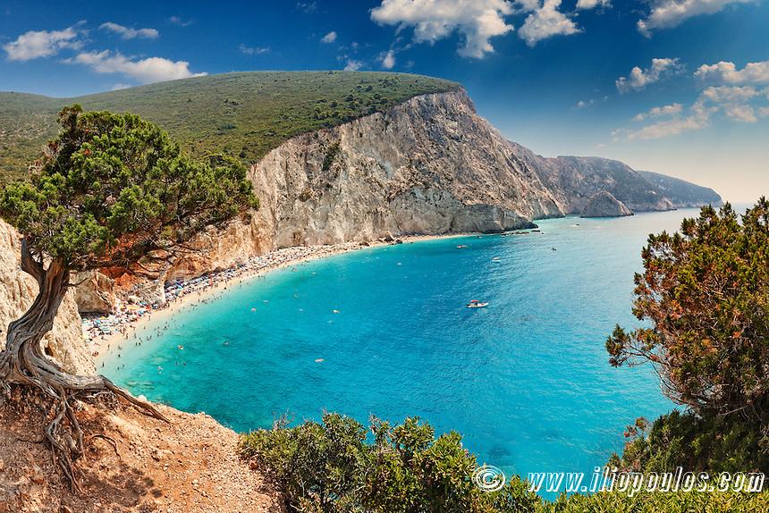 The spectacular Porto Katsiki in Lefkada, Greece