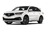 Stock pictures of low aggressive front three quarter view of 2019 Acura MDX A-Spec 5 Door SUV Low Aggressive