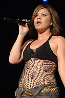063006_MSFL_LM_SMG<br /> <br /> WEST PALM BEACH, FL- JUNE 30 2006:  Former American Idol winner Kelly Clarkson looks like she has packed on a few pounds as she performed to a packed house at the Sound Advice Amphitheater in West Palm Beach, Florida. On Hand for the show was rock legend Steven Tyler with his new girlfriend.  On June 30 2006 in West Palm Beach, Florida. (Photo by Storms Media Group) <br /> <br /> People;  Kelly Clarkson <br /> <br /> Must call if interested <br /> Michael Storms<br /> Storms Media Group Inc.<br /> 305-632-3400 - Cell<br /> MikeStorm@aol.com
