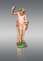 "Painted colour verion of  "" Silenus Drunk "" - A 2nd century AD Roman sculpture made from marble from Paros. Silenus was described as the oldest, wisest and most drunken of the followers of Dionysus, the god of wine. When intoxicated, Silenus was said to possess special knowledge and the power of prophecy. From the Ancient Royal Collection of France inv MR 343 (or MA 291) previously held at Versailles. Louvre Museum Paris."