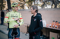Jasper Stuyven (BEL/Trek-Segafredo) & DS Dirk Demol after a training ride at the pre-season Trek-Segafredo Mallorca training camp <br /> <br /> January 2018
