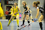Berlin, Germany, February 09: During the FIH Indoor Hockey World Cup Pool B group match between Germany (black) and Australia (yellow) on February 9, 2018 at Max-Schmeling-Halle in Berlin, Germany. Final score 2-2. (Photo by Dirk Markgraf / www.265-images.com) *** Local caption *** Viktoria HUSE #5 of Germany