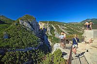 France, Alpes-de-Haute-Provence (04), parc naturel régional du Verdon, Grand Canyon du Verdon, le Verdon depuis le belvédère du Point Sublime // France, Alpes de Haute Provence, Parc Naturel Regional du Verdon (Natural Regional Park of Verdon), Grand Canyon du Verdon, the Point Sublime panoramic viewpoint