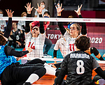Katelyn Wright and Heidi Peters, Tokyo 2020 - Sitting Volleyball // Volleyball Assis.<br /> Canada takes on Japan in sitting volleyball // Le Canada affronte le Japon en volleyball assis. 09/01/2021.