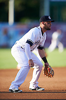 Syracuse Chiefs third baseman Jason Martinson (5) during a game against the Louisville Bats on June 6, 2016 at NBT Bank Stadium in Syracuse, New York.  Syracuse defeated Louisville 3-1.  (Mike Janes/Four Seam Images)