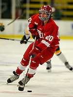 25 October 2008: Cornell University forward Catherine White, a Freshman from Brampton, Ontario, in action against the University of Vermont Catamounts at Gutterson Fieldhouse, in Burlington, Vermont. The Big Red defeated the Catamounts 5-1 to sweep their 2-game series in Vermont...Mandatory Photo Credit: Ed Wolfstein Photo