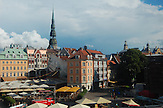 Blick über die Rigaer Altstadt. In Riga blüht die jüdische Kultur. Es gibt die größte jüdische Gemeinde im Baltikum./ In Riga prospers the jewish culture. In Riga is the biggest jewish municipal in the Baltic States