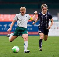 Lori Chalupny, Sonia Bompastor.  The Washington Freedom defeated the Saint Louis Athletica, 3-1.