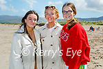 Enjoying a stroll on Castlegregory beach on Saturday, l to r: Cosette Dowling, Zoe Moriarty and Annie Ní Neill.