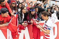 Houston, TX - Sunday April 08, 2018: Fans, Carli Lloyd during an International Friendly soccer match between the USWNT and Mexico at BBVA Compass Stadium.