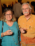 Helen and Edwin Kobar at the art openings of Carter Ernst, Ken Mazzu and Pat Johnson  at the Art Car Museum Saturday June 29, 2013.(Dave Rossman photo)