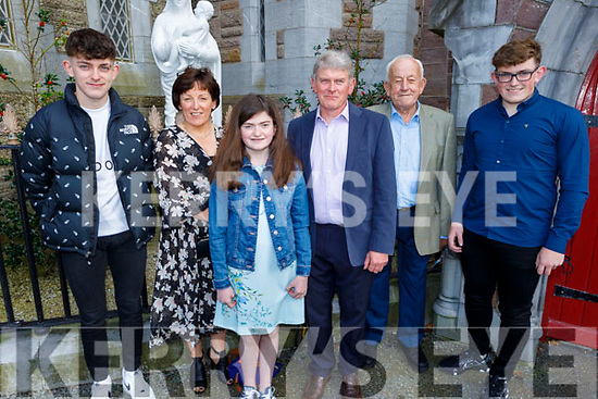 Sinead Crean former student of Derryquay NS receiving her Confirmation in St John's Church on Saturday. L to r: Tom Crean, Donal Devane, Mary and Padraig Crean.
