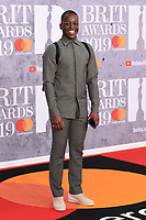 Ncuti Gatwa<br /> arriving for the BRIT Awards 2019 at the O2 Arena, London<br /> <br /> ©Ash Knotek  D3482  20/02/2019<br /> <br /> *images for editorial use only*