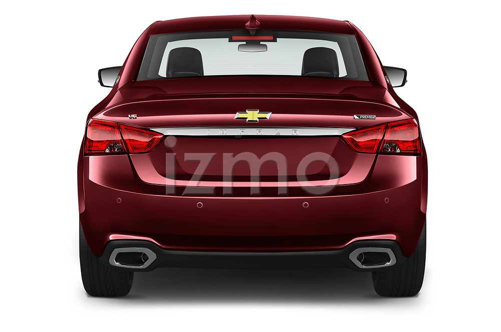 Straight rear view of 2020 Chevrolet Impala Premier 4 Door Sedan Rear View  stock images