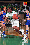 North Texas Mean Green guard BreAnna Dawkins (22) in action during the game between the Texas Arlington Mavericks and the North Texas Mean Green at the Super Pit arena in Denton, Texas. UTA defeats UNT 59 to 50...