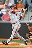 Stanford's Ben Clowe (29) swings and misses against the Texas Longhorns on March 4th, 2011 at UFCU Disch-Falk Field in Austin, Texas.  (Photo by Andrew Woolley / Four Seam Images)