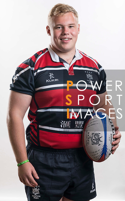 Hong Kong Junior Squad team member Zac Cinnamond poses during the Official Photo Session Day at King's Park Sports Ground ahead the Junior World Rugby Tournament on 25 March 2014. Photo by Andy Jones / Power Sport Images