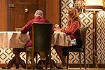 Actors Javier Gutierrez (I) and Cristina Castano during the performance of ¿Quien es el Sr. Schmitt?. October 16, 2019. (ALTERPHOTOS/Johana Hernandez)