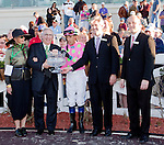 March 2010: David Flores and owner Amold Zetcher react after winning the 1st running of the New Orleans Ladies at the Fairgrounds in New Orleans, La.