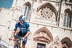 Deceuninck-Quick Step riders recon Stage 1 of La Vuelta d'Espana 2021, a 7.1km individual time trial around Burgos, Spain. 14th August 2021. <br /> Picture: Unipublic/Charly Lopez | Cyclefile<br /> <br /> All photos usage must carry mandatory copyright credit (© Cyclefile | Unipublic/Charly Lopez)
