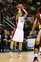 4 March 2007: Jillian Harmon during Stanford's 67-52 win over USC at the Pac-10 women's basketball tournament at HP Pavilion in San Jose, CA.