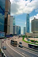 Hong Kong, China, 2005 file photo -<br /> Highrise and highway in Hong Kong