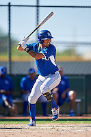 Kansas City Royals Humberto Arteaga (1) during an Instructional League game against the Texas Rangers on October 4, 2016 at the Surprise Stadium Complex in Surprise, Arizona.  (Mike Janes/Four Seam Images)