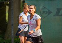 Hilversum, The Netherlands,  August 20, 2021,  Tulip Tennis Center, NKS, National Senior Tennis Championships, Women's doubles 50 + : Miriam Swarte (NED) (R) and Florentine Molkenboer-Schneider (NED)<br /> Photo: Tennisimages/Henk Koster