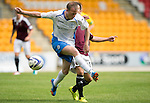 St Johnstone v Hearts...03.08.14  Steven Anderson Testimonial<br /> David Calrkson and Jamie Walker<br /> Picture by Graeme Hart.<br /> Copyright Perthshire Picture Agency<br /> Tel: 01738 623350  Mobile: 07990 594431