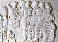 Greek Arts:  Old Men.  From The Parthenon's frieze.  Acropolis Museum.
