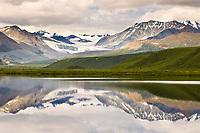 Gulkana glacier and Summit Lake, Alaska Range mountains, Interior, Alaska